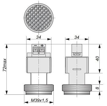 Лампа светодиодная LS 01-1,5-K (24В)